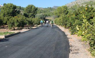 Benicàssim finaliza el carril bici hasta las urbanizaciones de montaña