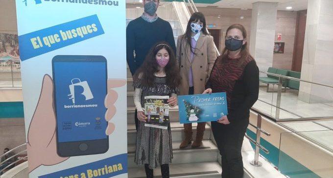 Burriana entrega 2.600 euros en los premios del concurso municipal de dibujo 'Pinta un Nadal màgic al comerç'