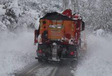 El Consorci de Bombers reforça amb més maquinària les mesures contra el gel a les carreteres