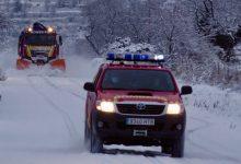 La Diputació alerta de la creació de plaques de gel en la carretera i desaconsella fer ús del cotxe