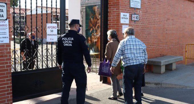 La Policia Local d'Onda augmenta en 2020 el servei assistencial als veïns i tramita 588 multes per Covid-19
