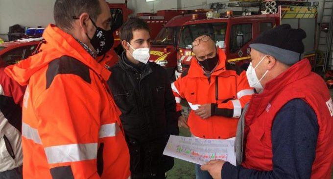 La Diputación coordina el dispositivo de emergencias para hacer frente a 'Filomena' con la colaboración de efectivos de la Generalitat