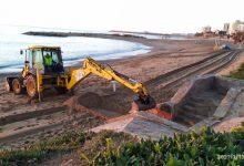 L'Ajuntament de Vinaròs neteja les restes arrossegades pel temporal Filomena