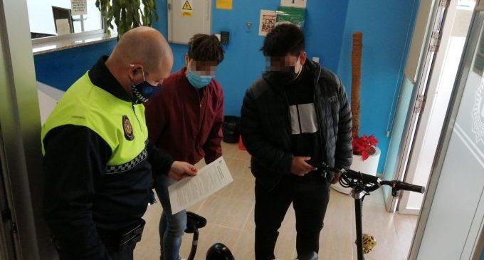 La Policia Local de Benicarló activa un registre per a VMP i bicicletes amb pedaleig assistit