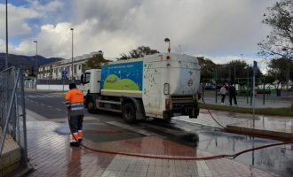 Benicàssim continúa con el servicio de limpieza y desinfección por Covid-19