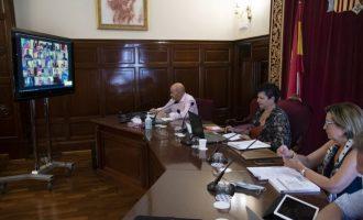 La Diputación de Castellón recupera la vía telemática para los plenos y las comisiones como medida de protección frente a la Covid-19
