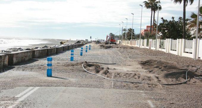 Almassora reclamarà dijous a Costes la defensa de la platja enfront de temporals