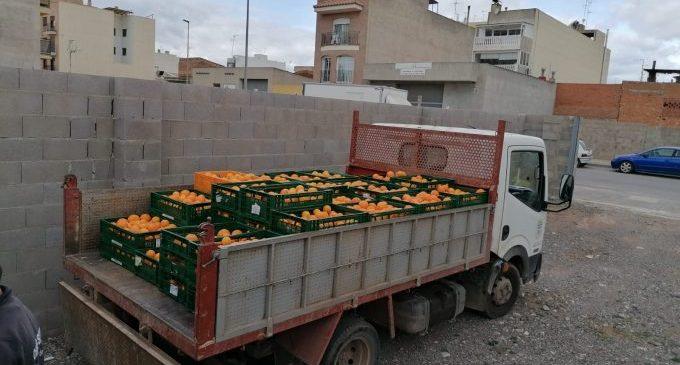Nules recupera 700 quilos de taronja robada