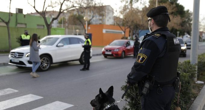 Segundo fin de semana de confinamiento en Castelló y Vila-real con más controles por aire y tierra