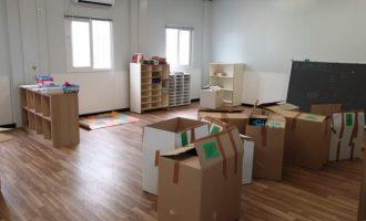 Comença el trasllat de CEIP Vicent Marçà a les instal·lacions provisionals