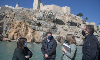La Diputació redactarà un pla per a protegir i consolidar els penya-segats del castell de Peníscola