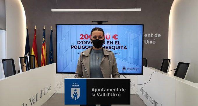 La Vall d'Uixó invertirá 200.000 € en la mejora de su desarrollo industrial en Mezquita