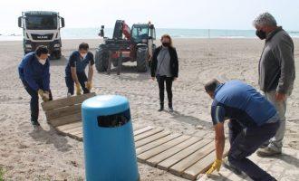Benicàssim prepara les seues platges per a Setmana Santa