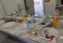 Botelló a l'Alcora en els lavabos de Pista Jardí