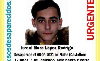 Buscan a un joven desaparecido en Nules
