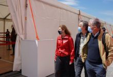 Marco visita el Palacio de Congresos y supervisa el dispositivo especial de seguridad de la vacunación masiva