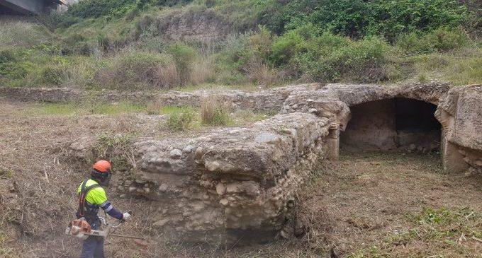El Consorci gestor del Paisatge Protegit de la Desembocadura del riu Millars finalitza els treballs de desbrossament de l'antic assut dels Corrents del segle XVII