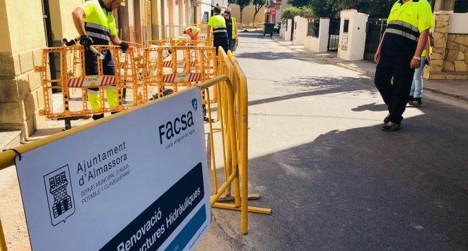 FACSA invertirà més de 200.000 euros en la renovació de la xarxa d'aigua potable d'Almassora