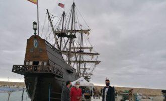 El Galeón Andalucía atraca a Peníscola per a començar les visites