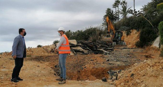 Peníscola encara l'últim mes d'obres en l'accés a la seua costa sud