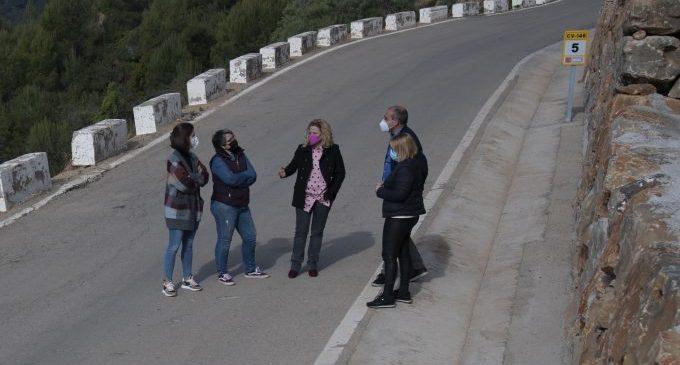 La Diputación invierte 410.000 euros en la mejora de la seguridad vial de la carretera que une Cabanes con la Ribera de Cabanes