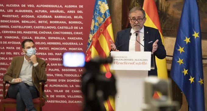 La Diputació de Castelló aprovarà en el ple el Pla d'Obres i Serveis, que permetrà als municipis rebre un total de 12,4 milions d'euros