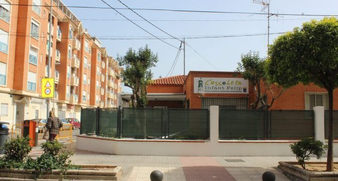 Borriana inicia el procés d'admissió a l'Escola Infantil Municipal per al pròxim curs