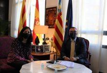 Benlloch defineix les huit prioritats de la Generalitat amb Vila-real i sol·licita a la directora territorial de Presidència la reparació de la coberta del CTE