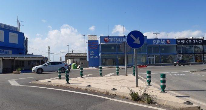Benicarló instal·larà una rotonda provisional en la N-340a amb el camí de Mallols