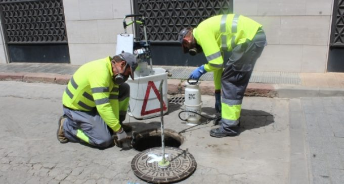 Burriana y Facsa intensifican la campaña preventiva de control de plagas en la red municipal de alcantarillado