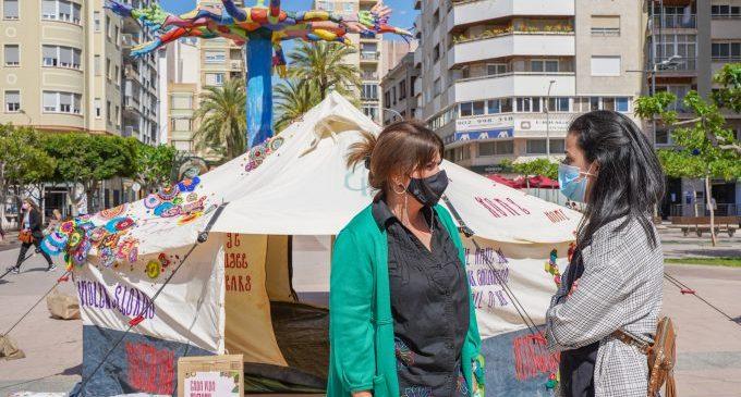 Castelló instal·la en Hort dels Corders una tenda de campanya d'un camp de refugiats de Jordània