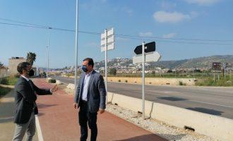 La carretera Peníscola-Benicarló ja compta amb el nou enllumenat públic més eficient