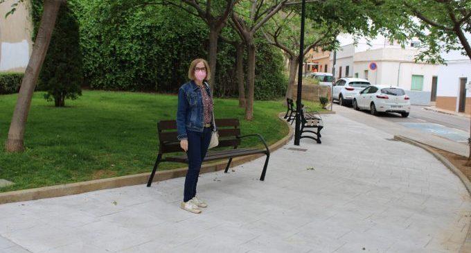 Finaliza la mejora del parque de la calle Guitarrista Tárrega en l'Alcora