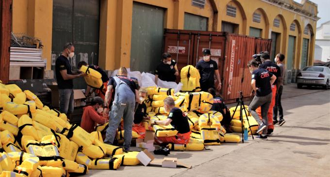 El Vaixell de rescat SEA-EYE 4 salpa de Port de Borriana per a la seua primera missió