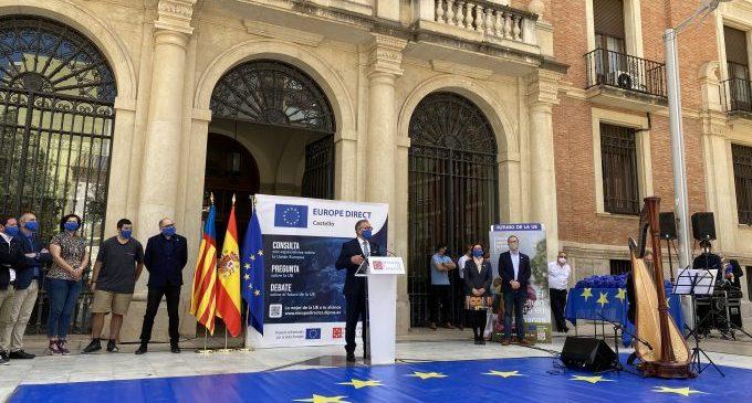 La Diputación destaca el Pacto Verde y la cooperación entre estados para conmemorar el día de Europa