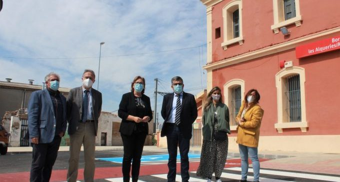 Finalizan las obras de ampliación y adecuación del aparcamiento de la estación Burriana-Alqueries