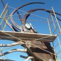 Vinaròs realitza tasques de reparació i restauració de la font del llagostí