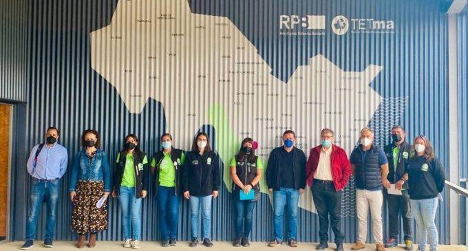 Garcia visita la planta de residus d'Algímia amb l'equip d'Educació Ambiental de la Diputació a la zona Sud