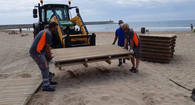 Benicarló inicia la temporada de playas 2021 con el servicio de socorrismo y salvamento