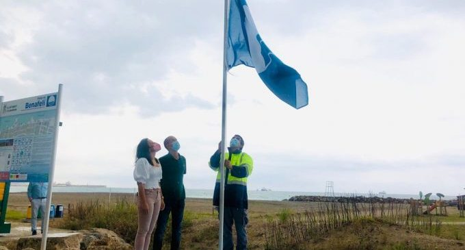 Almassora opta a ser Destino Europeo de Excelencia tras izar su primera bandera azul