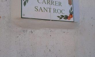 Mascarell renova les plaques dels noms dels seus carrers