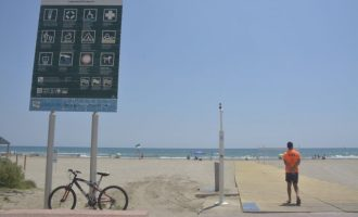 La platja del Gurugú torna a obrir després de tancar el dilluns en detectar contaminació d'origen residual