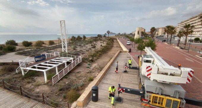 Peníscola inverteix quasi un milió d'euros en les seues platges aquest 2021