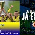 La copa de la UEFA Europa League conquistada pel Vila-real C.F. arriba a Almenara