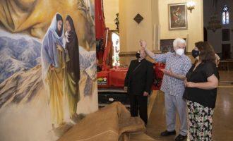 La Diputación de Castellón financia los dos nuevos lienzos del pintor Traver Calzada para la Concatedral de Santa María