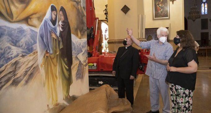 La Diputació de Castelló finança els dos nous llenços del pintor Traver Calzada per a la Cocatedral de Santa María