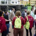 Martí i Garcia visiten el primer ecoparc mòbil del consorci C2 de residus pel Dia del Medi Ambient