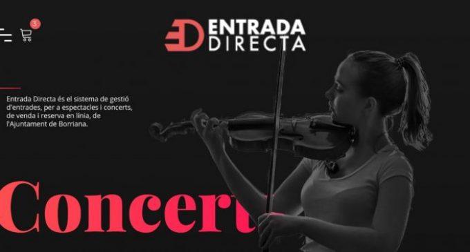 'Entrada directa', una web per a adquirir les entrades per als espectacles de juliol i agost en Borriana