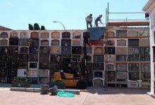 Borriana repara les teulades dels nínxols més antics del cementeri municipal