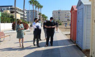 Colomer visita las mejoras realizadas en las playas de Nules y Mascarell